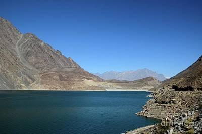 Photograph - Attabad Lake Among Mountains From Karakoram Highway Gojal Valley Hunza Pakistan by Imran Ahmed