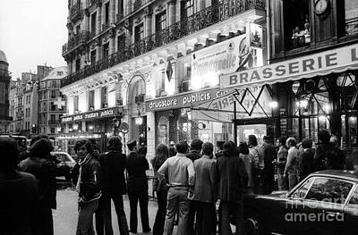 Drugstores Photograph - Attack At The Drugstore Saint Germain In Paris On September 15, 1974 by French School