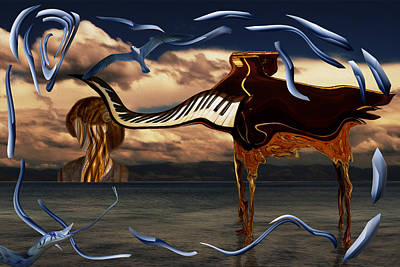 Salvador Dali Painting - Attack Of The Mad Piano by Diana Ringo