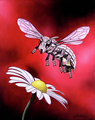 Painting - Attack Of The Silver Bee by Paxton Mobley