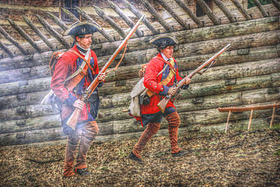 Attack On Fort Ligoner French And Indian War Art Print by Randy Steele