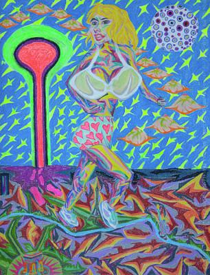 Painting - Attaque Des Bombes Sexuelles by Robert SORENSEN