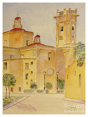 Painting - Attard Parish Church by Godwin Cassar