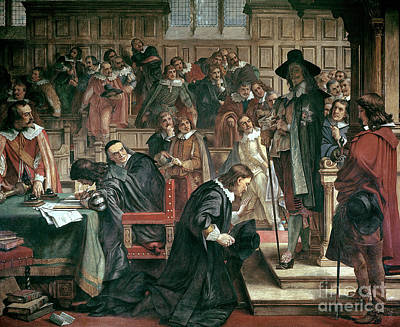The King Painting - Attempted Arrest Of 5 Members Of The House Of Commons By Charles I by Charles West Cope