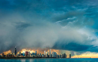 Sears Tower Photograph - Attention Seeking Clouds by Cory Dewald