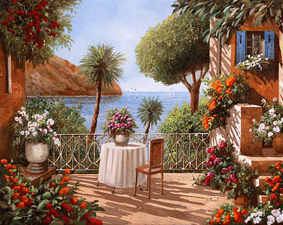Vacations Painting - Attesa Di Qualcuno by Guido Borelli