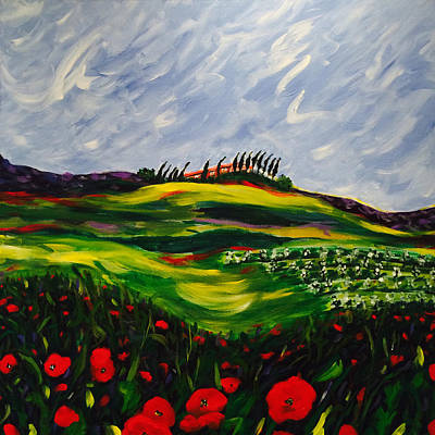 Tuscan Hills Painting - Attesa Prima Del Temporalle by Seonaid  Ross