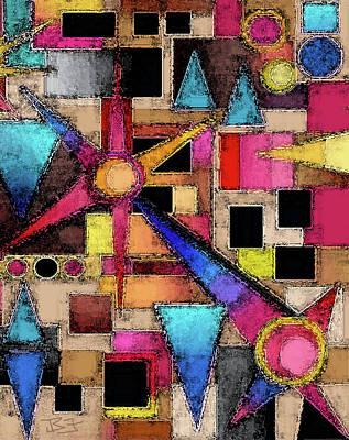 Digital Art - Attic Pinwheels by Jean Batzell Fitzgerald