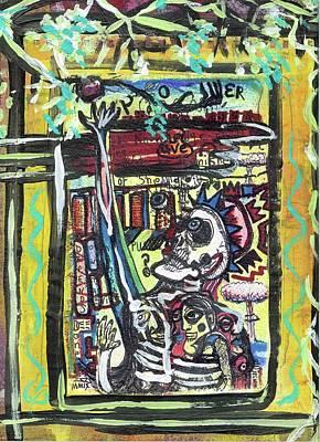Destruction Mixed Media - Attic Window by Robert Wolverton Jr