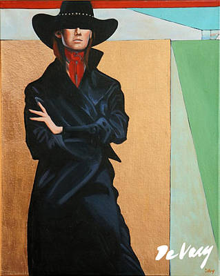Beautiful Western Cowgirl Painting - Attitude Is Everything by David DeVary