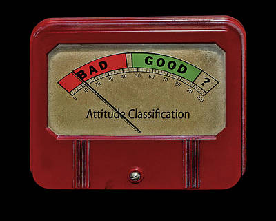 Photograph - Attitude Meter by Phil Cardamone