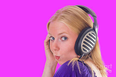 Photograph - Attractive Girl With Headphones by Patricia Hofmeester