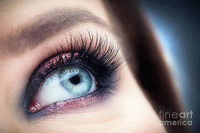 Photograph - Attractive, Healthy Eye With Glamour Makeup Close-up. by Michal Bednarek