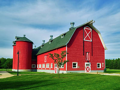 Attractive Red Barn Print by Mountain Dreams