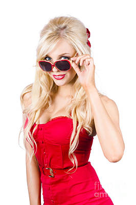 Peer Photograph - Attractive Young Blonde Woman In Cool Eyewear by Jorgo Photography - Wall Art Gallery