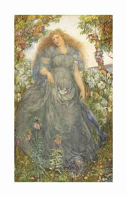 Music Paintings - Attributed to Arthur Herbert Buckland, R.B.A. fl. 1895-1927 The Flower Maiden by Arthur Herbert Buckland