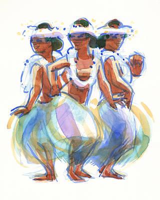 Painting - Ature Drum Dancers by Judith Kunzle