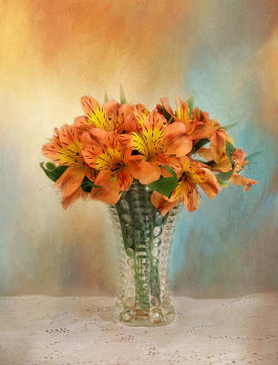 Photograph - Autumn Alstroemeria Flowers by Kim Hojnacki