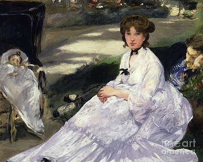 Painting - Au Jardin, 1870 by Edouard Manet