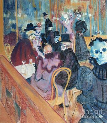 Skelly Pastel - Au Moulin Skelly by Marie Marfia