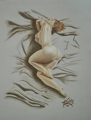 Drawing - Au Naturel by Edward Kovalsky