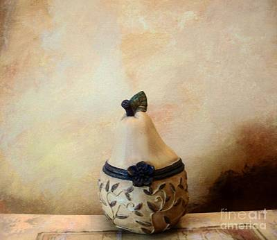 Au Pear Art Print by Marsha Heiken