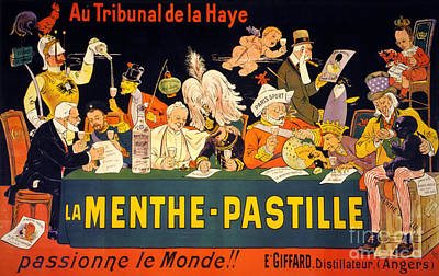 Au Tribunal De La Haye La Menthe Pastille Vintage Art Print