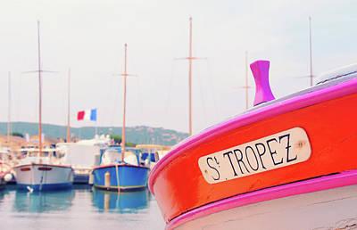 Photograph - Au Vieux Port De Saint Tropez by Iryna Goodall