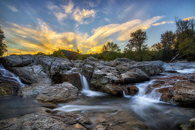 Sundown Photograph - Auasble River Sunset 2 by Mark Papke