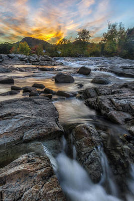 Art Print featuring the photograph Auasble River Sunset by Mark Papke