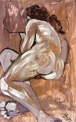 Aubergine Male Nude Original by Joanne Claxton