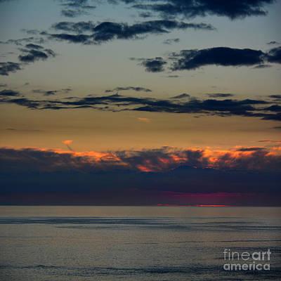 Photograph - Aubergine Sunset  by Paul Davenport
