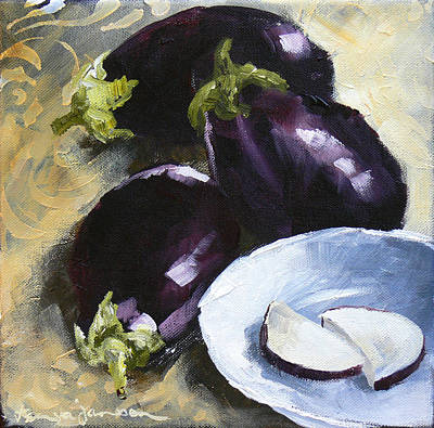 Painting - Aubergines by Tanya Jansen