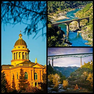 Photograph - Auburn California Triptych 2 by Sherri Meyer