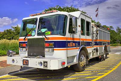 Photograph - Auburn Fire Department  by JC Findley