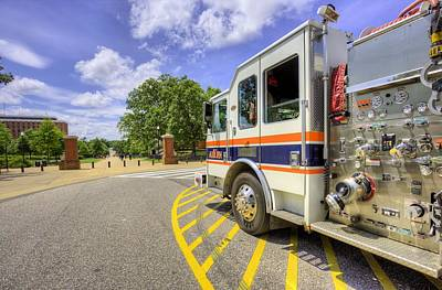 Campus Life Photograph - Auburn Fire Department Response by JC Findley