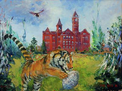 Newton Painting - Auburn Football Winning Year by Ann Bailey
