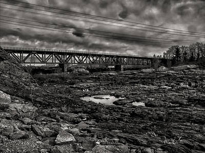 Photograph - Auburn Lewiston Railway Bridge by Bob Orsillo