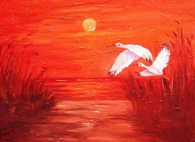 Painting - Auburn Nights by Carol Allen Anfinsen