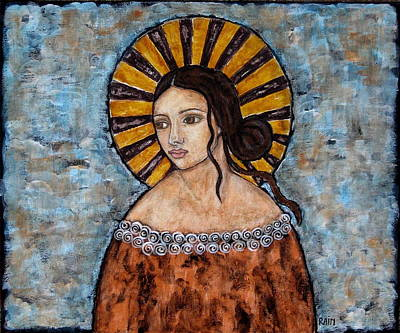 Christian Art . Devotional Art Painting - Auburn by Rain Ririn