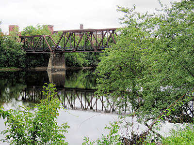 Photograph - Auburn Riverwalk Bridge  by Janice Drew