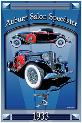 Auburn Salon Speedster V12 Art Print