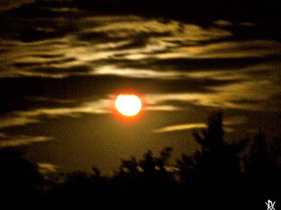 Auburn View Of Moon Photograph - Auburn Sky by Debra     Vatalaro