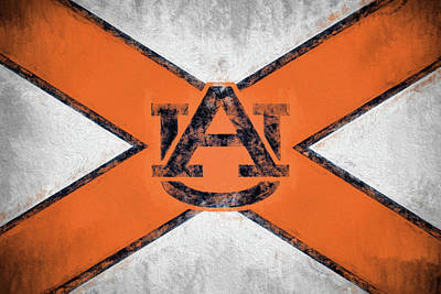 The Tiger Digital Art - Auburn State Flag by JC Findley