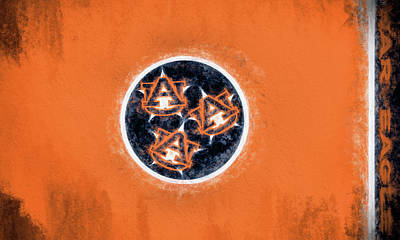 Digital Art - Auburn Tennessee Flag by JC Findley
