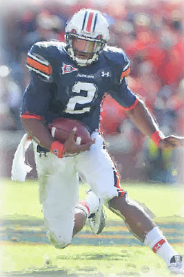 Cam Newton Photograph - Auburn Tigers Cam Newton by Joe Hamilton
