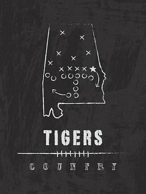 Auburn Tigers / Ncaa College Football Art / Alabama Art Print by Damon Gray