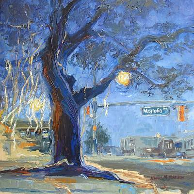 Toomers Corner Painting - Auburn Toomer's Corner - Part Of College Series by Karen Mayer Johnston