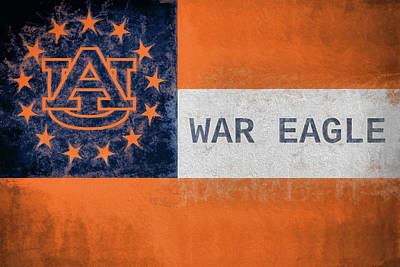 Photograph - Auburn University Georgia Flag by JC Findley