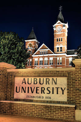 Alabama Wall Art - Photograph - Auburn University by JC Findley